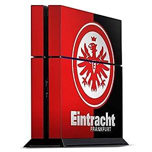DeinDesign Skin kompatibel mit Sony Playstation 4 PS4 Aufkleber Folie Sticker Eintracht Frankfurt Offizielles Lizenzprodukt SGE