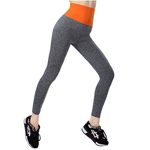 Glield Pantalons de sport Femme Jogging YOGA Leggings YGK01 Orange