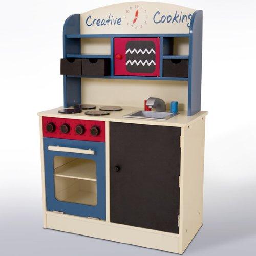 Infantastic cucina giocattolo di legno ca 60 x 30 x 90 cm - Cucina legno bambini ...
