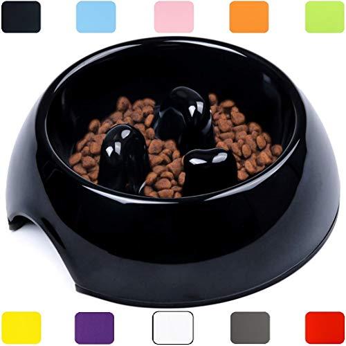 DDOXX Fressnapf Antischlingnapf, rutschfest | viele Farben & Größen | für kleine & große Hunde | Futter-Napf Katze | Hunde-Napf Hund | Katzen-Napf | Melamin-Napf | Schwarz, 600 ml