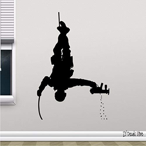 Soldat Wall Decal Polizei Special Forces Gun Vinyl Aufkleber Dekor Wandbild alle Dekoration Schablonen für Teenboys Schlafzimmer Poster 30x44 cm (Vinyl-schablone Buchstaben)