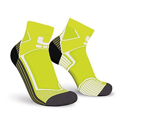 Oxyburn Kinder Run Evobright Half Cut Energizer Compression Socken, Vision/White, Size 35/38