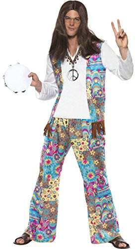 Groovy Costume da hippy per uomo, taglia M
