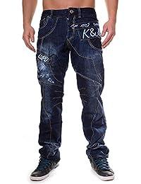Kosmo Lupo - Jeans - Jambe droite - Homme Bleu Bleu 29W-38W