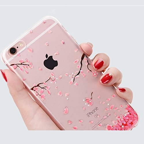 iPhone 6S Plus Silicone Coque,iPhone 6S Plus (Not Pour iPhone 6S/6 4.7 Pouce)Bling Diamant Coque en Silicone Coque Clair,EMAXELERS iPhone 6 Plus / 6S Plus Silicone Case Silver Slim Soft Gel Cover with C TPU 94