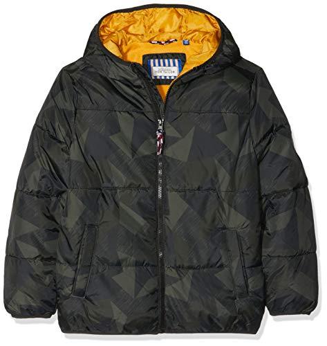 TOM TAILOR Kids Jungen 1/1 Hood Jacke, Schwarz (Caviar|Black 1010), 104 (Herstellergröße: 104/110) (Bekleidung Junior Shops)