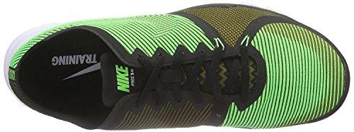 Nike  Free Trainer 3.0 V4, Chaussures de sport homme Noir, vert, blanc (Black / Vltg Green-Mlt Grn-White)