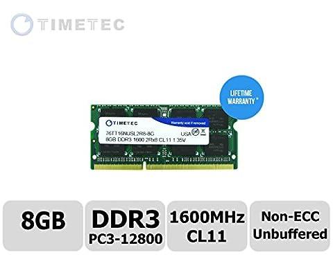 Timetec® (P / N 76TT16NUSL2R8-8G) 8Go Dual Class 1600MHz DDR3