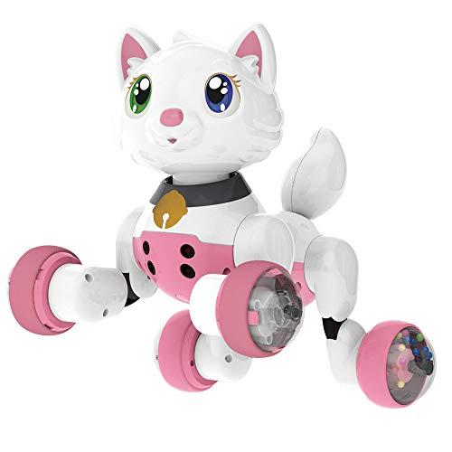 ZMH Sprachgesteuerter Interaktiver Pädagogischer Spielwaren-Intelligenter Elektronischer Haustier-Katzen-Hund Mit Singen, Das Intelligenten Roboter-Haustier-Weg-Robotertierspielzeuggeste Folgt,Cat