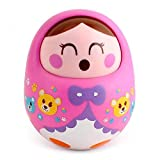 #6: Toyshine Push and Shake Wobbling Bell Sounds Roly Poly Tumbler Doll (Multicolour)