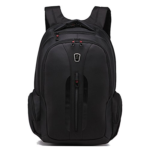Slotra Zaino per computer portatile,Men Waterproof Messenger Backpack Shoulder Satchel Travel Bag 32*18*48cm -Black