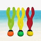 Xiton Spielen Sie Tauchen Gras Dauerhafte Schwimmen Tauchen Spielzeug Bunte Pool Gras Spielzeug für Kinder Tauchen (Zufällige Farbe) 3 STÜCKE