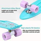 ENKEEO 57cm Mini Cruiser Board Skateboard mit stabilen Deck 4 PU-Rollen für Kinder, Jugendliche und Erwachsene - 3