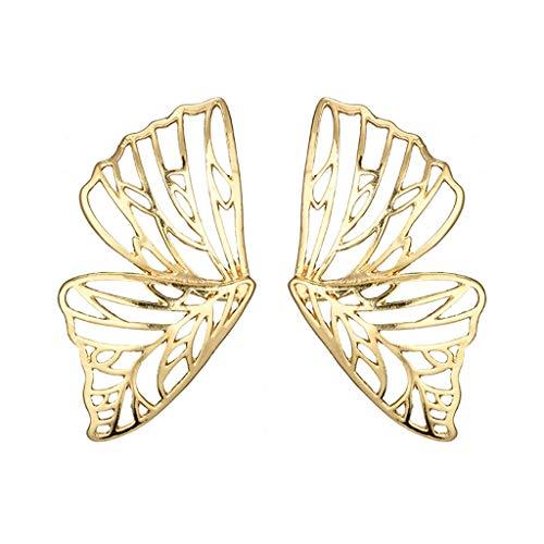 UINGKID Ohrstecker Mode Einfache Stilvolle AttraktiveModerner hohler Schmetterlings-Anhänger-Ohrring für ()
