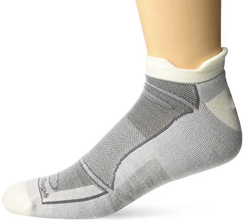 Darn Tough Herren Merino Wolle No-Show Light Cushion Athletic Socken, Herren, 1722, Weiß/Grau, M -