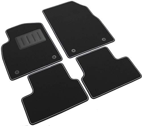Il Tappeto Auto SPRINT03405 Auto-Fußmatten aus Teppichmaterial, schwarz, rutschfest, zweifarbiger Rand, Absatzschoner aus Gummi für Opel (Chevrolet Cruze Teile)
