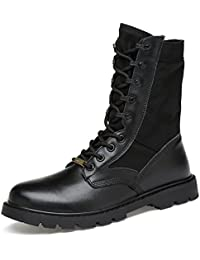 ailihabroy Army/Military Patrol Desert Leather Combat Boots Outdoor Cadet Shoes