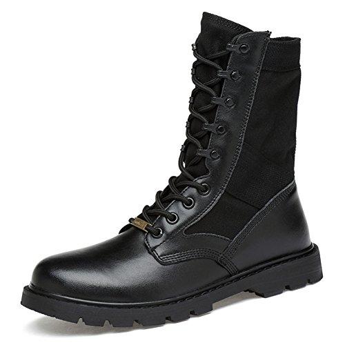 ailishabroy Armee/Militär Patrol Desert Leather Combat Boots im Freien Cadet Schuhe (45, Gelb)