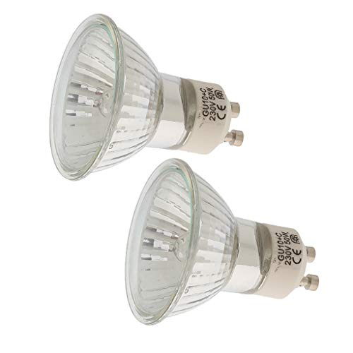 FLAMEER 2 Stück GU10 Halogen Scheinwerfer Kommerziellen Haushalts Spot Licht Flutlicht 50 Watt -