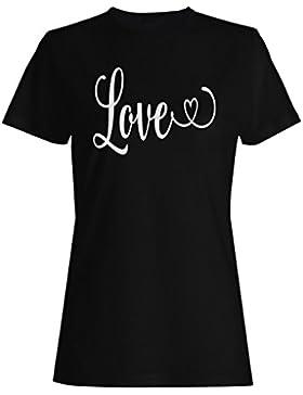 Amor camiseta de las mujeres n261f