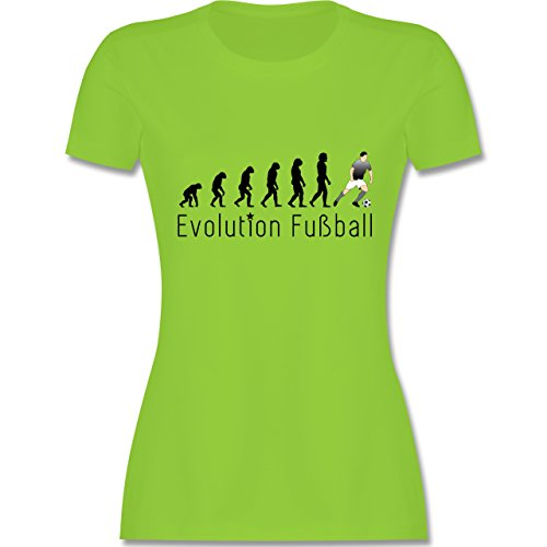 Evolution - Fußball Evolution - tailliertes Premium T-Shirt mit Rundhalsausschnitt für Damen Hellgrün