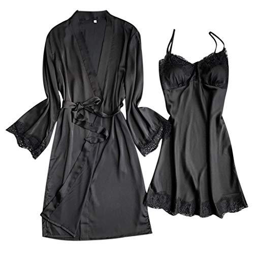 TianWlio Damen Dessous V-Ausschnitt Spitzendetails Pyjamas Übergröße Wimpernspitze Dessous
