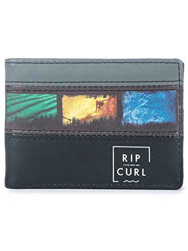 Rip Curl Slim PU Split Monederos, 11 cm, litros, Negro