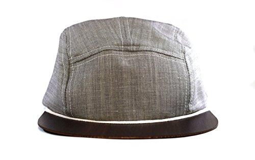 Modeschmuck Regen (5 Panel Cap Snapback grau mit Holzschild | Made in Germany | Kappe Sommer Cappy | Sehr leicht & hoher Tragekomfort | One size fits all)