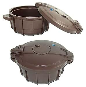 Smart Cooker Schnellkochtopf f. die Mikrowelle m. Dämpfeinsatz Kochtopf Ø 18,5cm