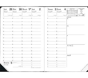 2 X QUO VADIS Agenda scolaire Sept 2015 - Sept 2016 UNIVERSITAIRE Impala 10x15 cm Grainé noir