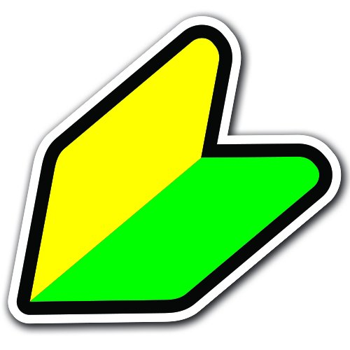 Honda Car Sign (Original - 10.16 cm Wakaba JDM Sticker Bomb Shoshinsha Mark New Driver
