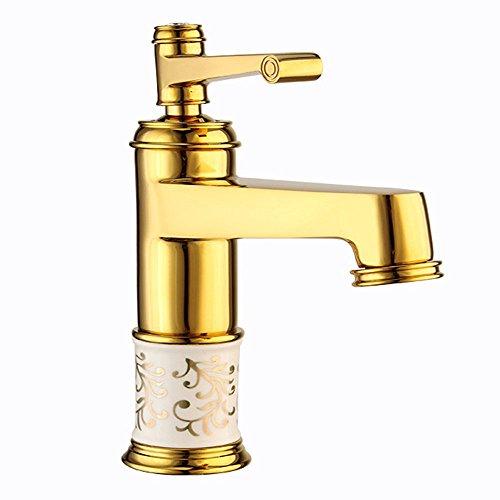 Waschbecken Wasserhahn mit Abtropf Messing Einhand Wasserhahn, gebürstetem Nickel