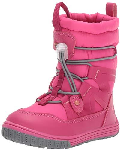 Northside Girls\' Toboggan Snow Boot, Fuchsia/Coral, 7 Medium US Toddler