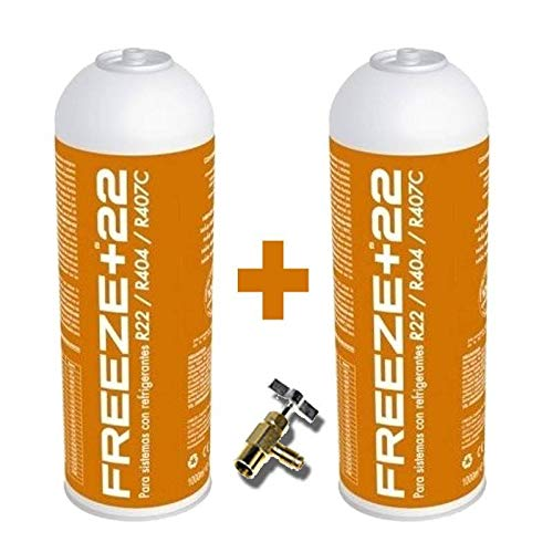 REPORSHOP - 2 Botellas Gas Refrigerante Freeze +22