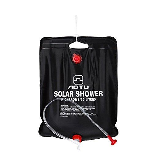 20Litri/5 Galloni Campo Doccia Borsa Escursione di Campeggio Solare Esterna Portatile Leggera Esterno del Sacchetto di Acqua
