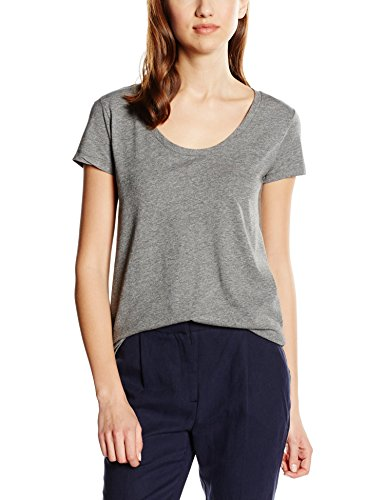 Cortefiel Damen T-Shirt Cta Basica Corte grau (GREYS)