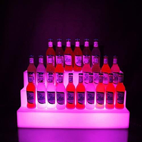 Pro-RACK Wiederaufladbare LED Farbwechsel 3 Ebenen LED Bar Regal Weinflasche Rack Glorifier Halter Display Stand Schnapsflasche Regale