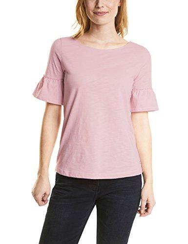 Cecil Damen T-Shirt 312115, Pink (Soft Blossom 11216), Large (Rüschen-shirt)