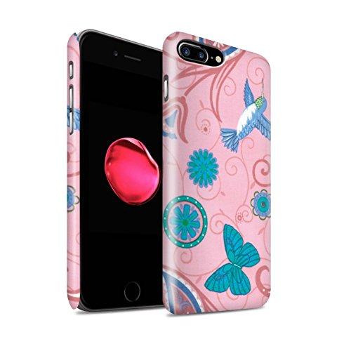 STUFF4 Matte Snap-On Hülle / Case für Apple iPhone 8 Plus / Rosa/Rot Muster / Frühlingszeit Kollektion Rosa/Blau