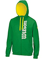 Wilson - Sudadera de cremallera con capucha para hombre, todo el año, hombre, color verde, tamaño S, M, L, XL, XXL