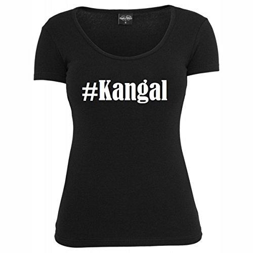 T-Shirt #Kangal Hashtag Raute für Damen Herren und Kinder ... in den Farben Schwarz und Weiss Schwarz