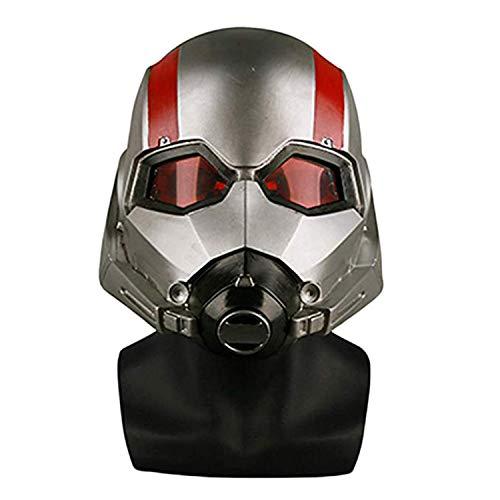 QWEASZER Ant-Man and The Wasp, Leuchthelm Maske Marvel Avengers Legends Series Cosplay Masken - Perfekt für Karneval und Halloween - Erwachsenen Kostüm - Latex, Unisex,Ant Man/A-55cm~63cm (Ant Mann Wasp Kostüm)