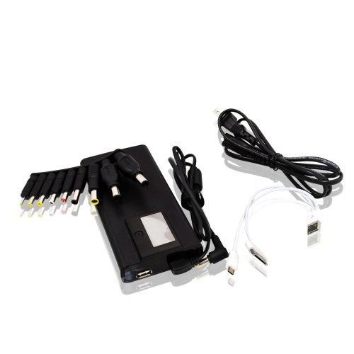 LEICKE Universal Netzteil für Notebooks und Tablets mit Anzeige für Stromstärke, Spannung und Temperatur | Adapterset im Lieferumfang enthalten | LED - Display zur Anzeige von Spannung, Stromaufnahme und Netzteiltemperatur | 12-24V, einstellbar