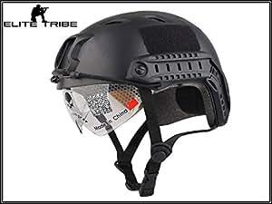 Emerson Helmet Casque tactique à visière de type BJ Noir