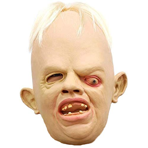 WCL Horror Scary Maske Halloween Maske für Erwachsene Kids Oblique Monster Maske Kostüm Maskerade (Scary Kostüme Halloween Kids)