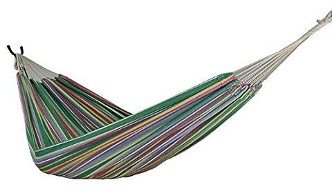 zoophyter Reine Taille Hamac, coton de haute qualité. Idéal pour parc, jardin, chambre, porche, intérieur et extérieur bleu tropical