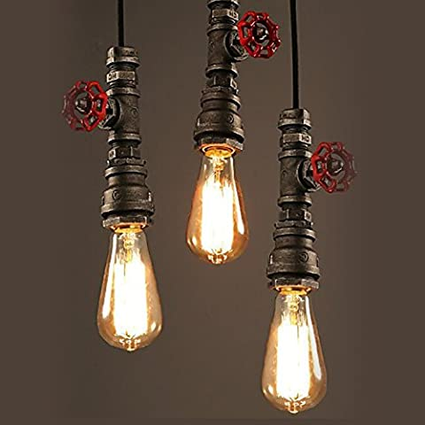 Sanyi Creative Water Pipe Metal Pendant Lights Modern Chandelier Country