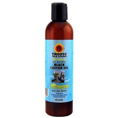 Jamaican Black Castor Oil Organic Shampoo with Shea Butter 8 oz by Tropic Isle Living