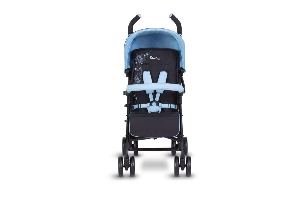 Silver Cross Pop Star Stroller, Compact and Lightweight Pushchair - Shooting Stars Silver Cross NEWBORN TO TODDLER: Suitable from birth up to toddlers (25kg), sitting upright to watch the world or reclining to a lie-flat position ADJUSTING AS THEY GROW: With a robust chassis, higher seat back and adjustable calf support your little one can keep comfortable and supported in the Pop Star Buggy as they grow LIGHTWEIGHT AND COMPACT: Quick and easy one-handed fold feature with a carry handle for ease positioned on the side of the all-black chassis 4