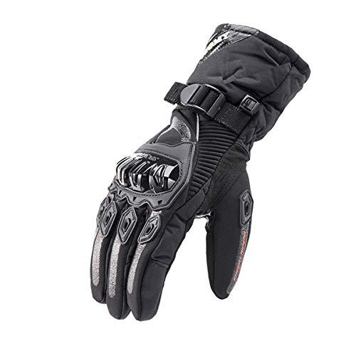 WXHXSRJ Guanti Invernali per Motociclismo - Guanto Touchscreen con Isolamento Termico Impermeabile Antivento per Esterno, per Arrampicata Escursionismo All'aperto,Nero,L